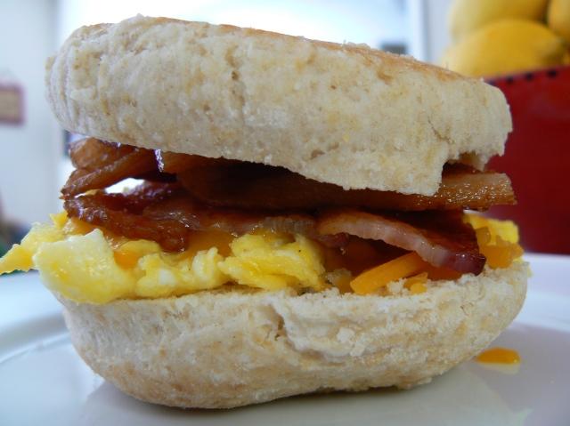 Jamie's Bacon, Egg, Cheese, English Muffin Breakfast Sammie
