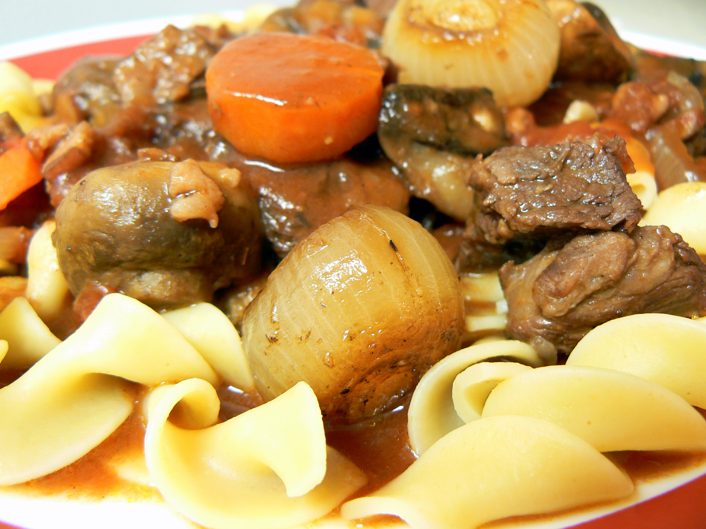 ... Beef Stew in Red Wine, with Bacon, Onions and Mushrooms) – Crazy