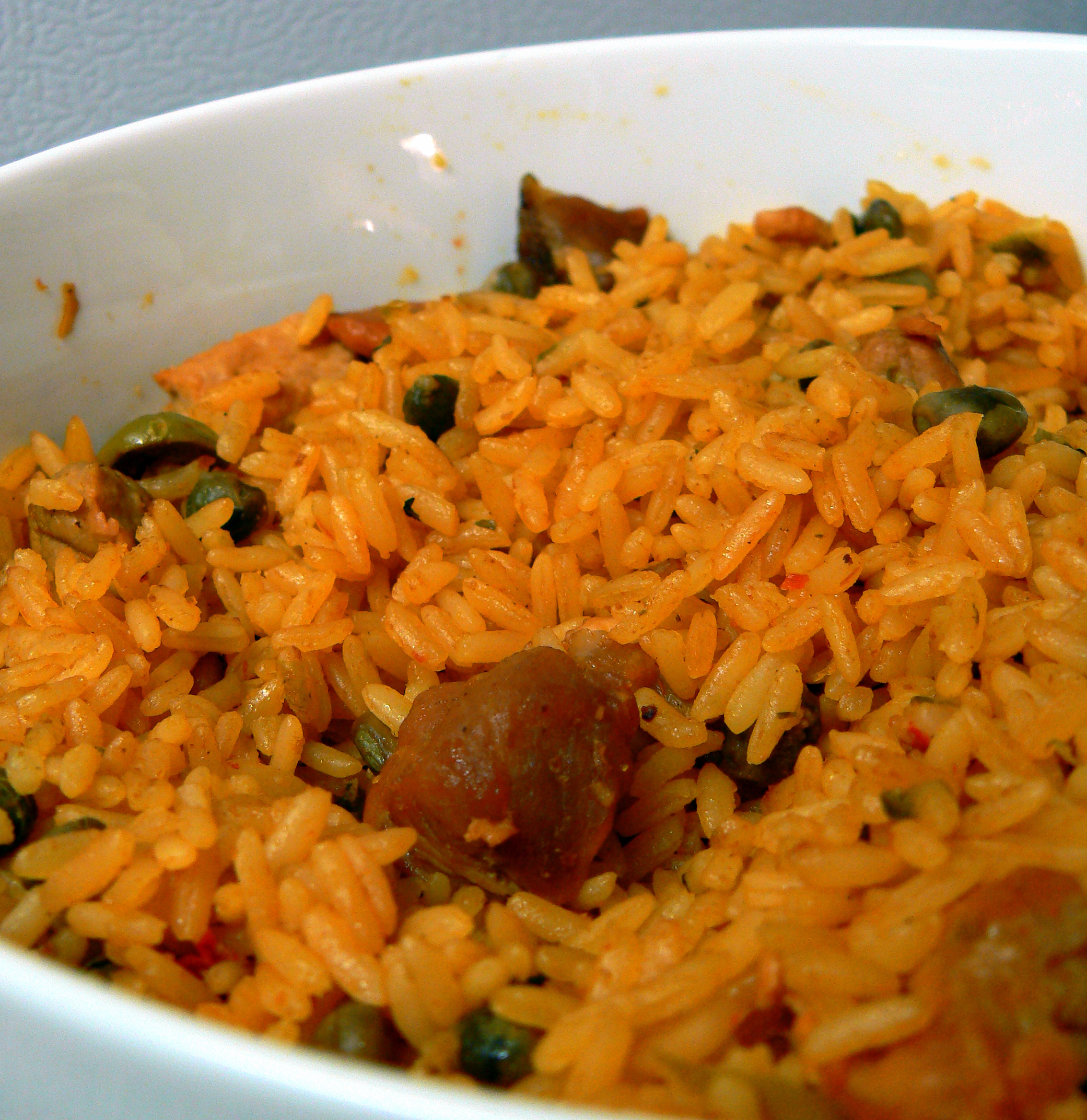 My Mother in law also made: Arroz con gandules (rice with Pigeon Peas ...