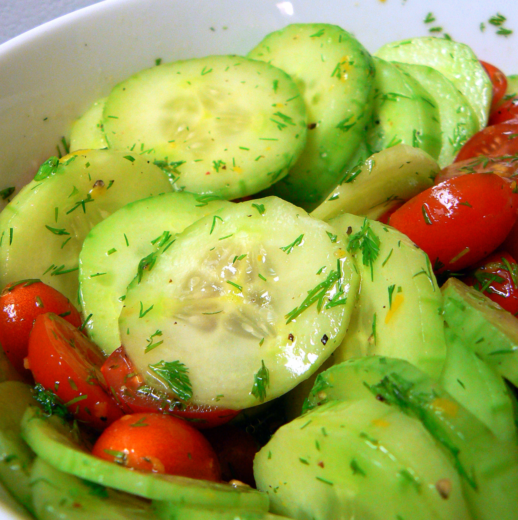 Cucumber, Tomato Salad | Crazy Jamie