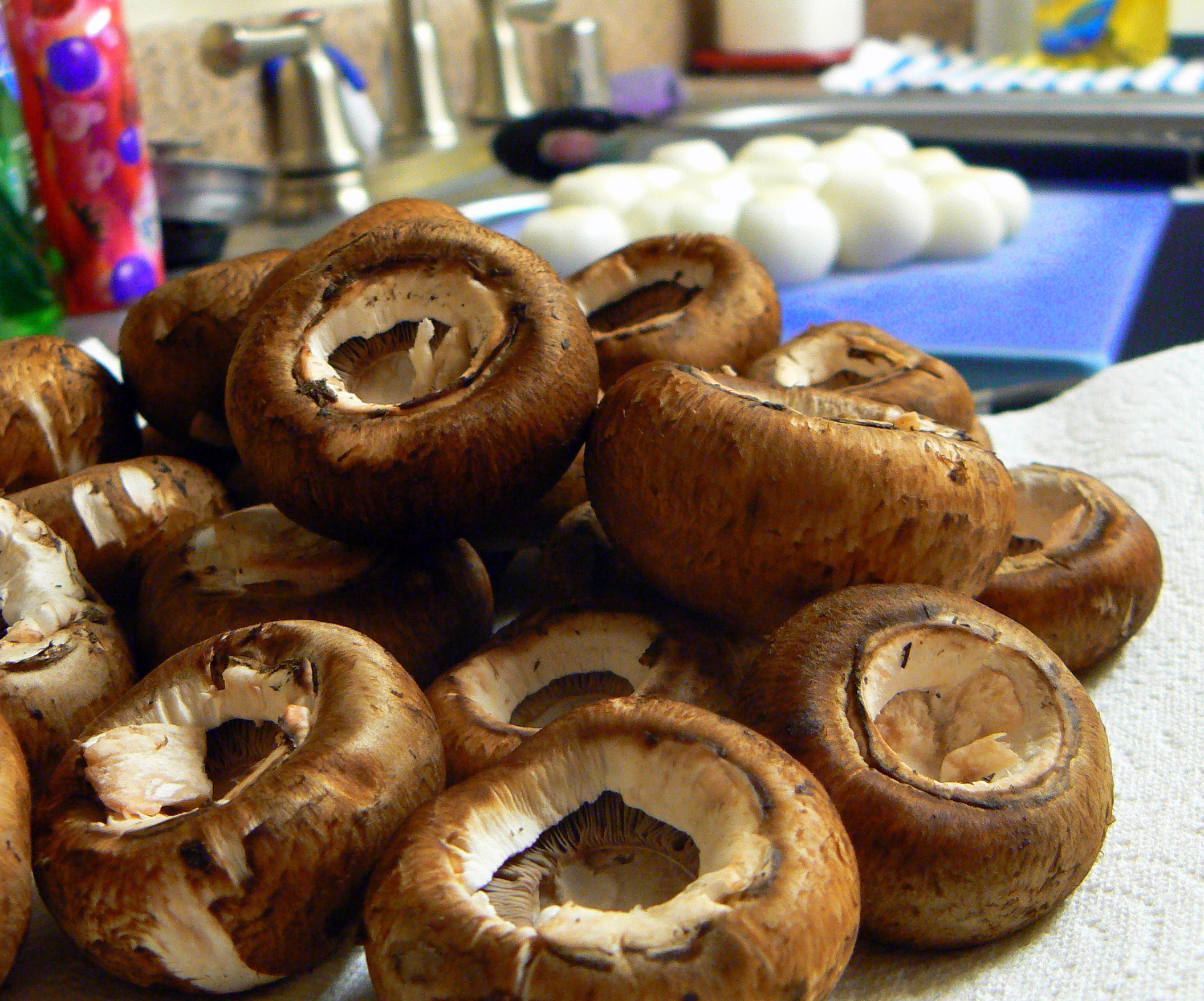 ... Crimini mushrooms) Horseradish Sour Cream, recipe follows, for garnish