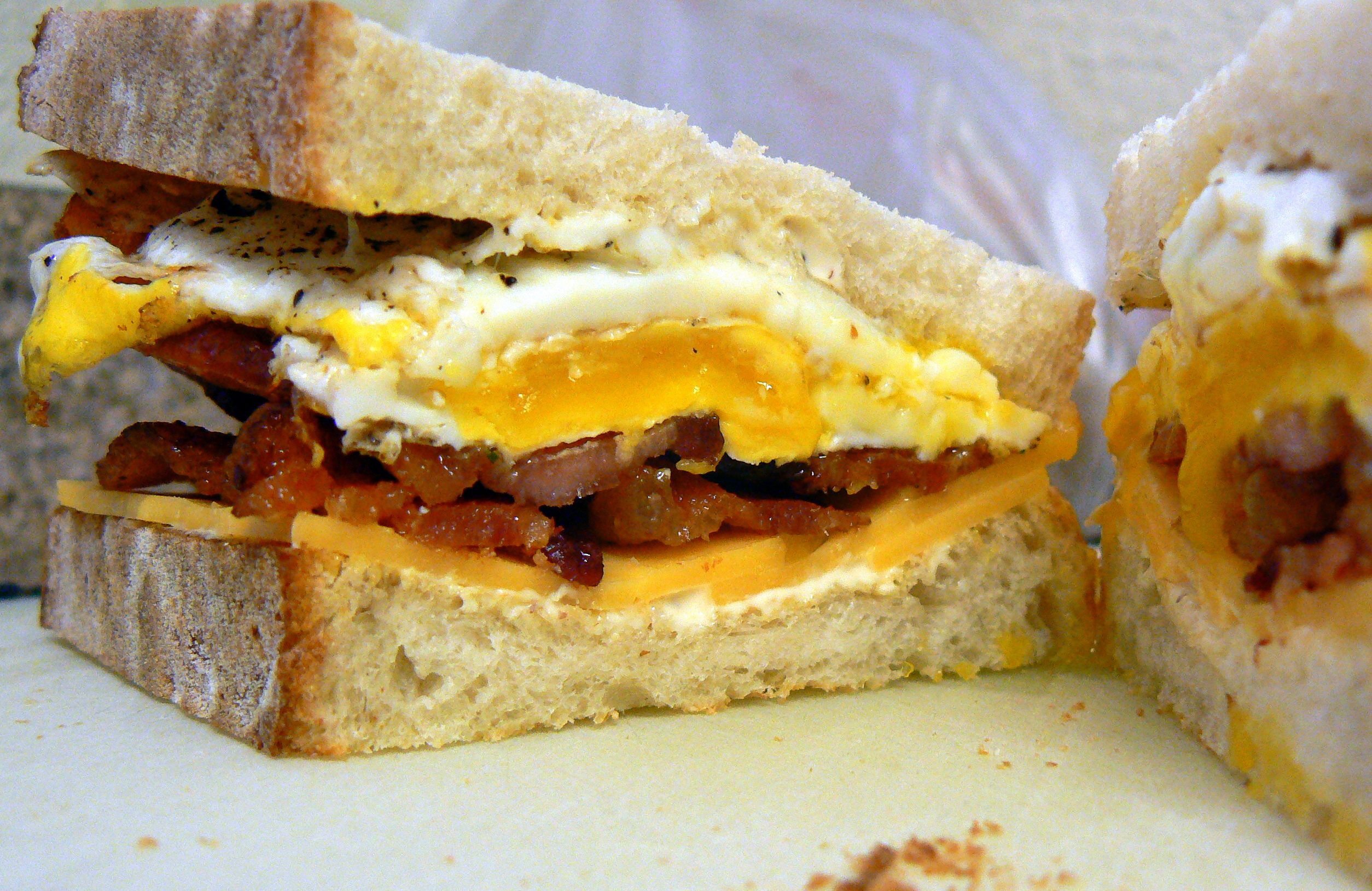 sandwich bacon and egg sandwich with pepper jack recipe bacon and egg ...