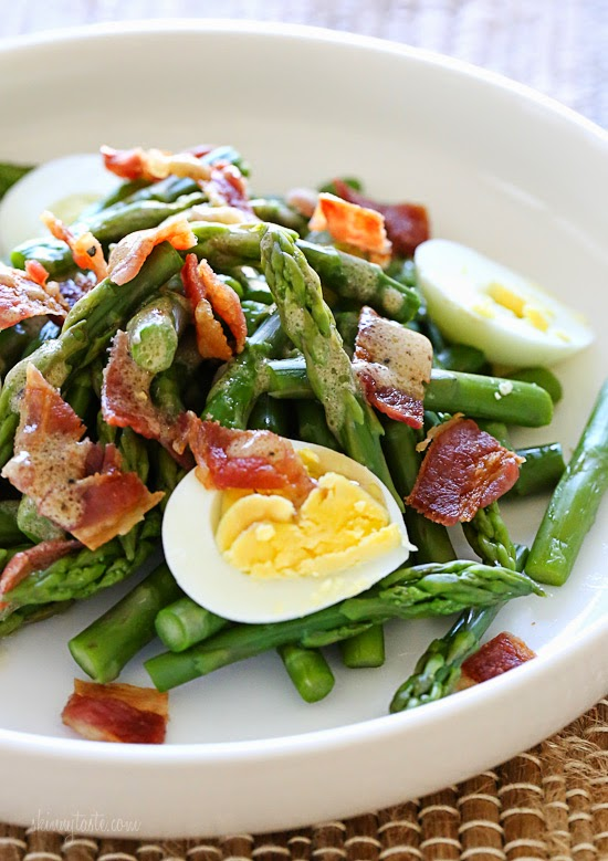 hard boiled egg and bacon tossed with a Dijon vinaigrette – it has Spring written all over it!